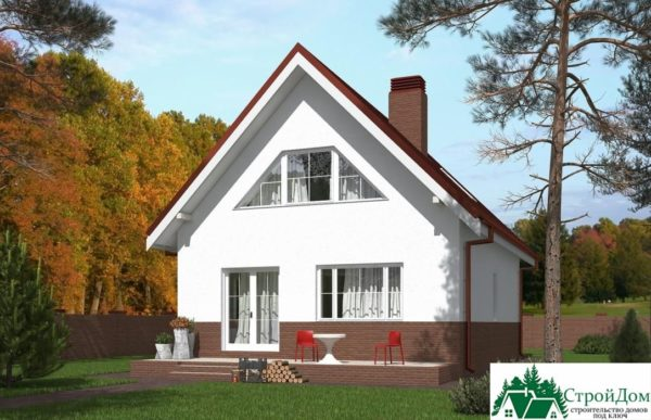 Проект дома с мансардой SD 439 вид 4 7