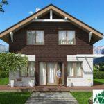 Проект дома с мансардой SD-512 вид 1