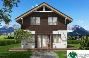 Проект дома с мансардой SD 512 вид 1