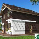 Проект дома с мансардой SD-512 вид 2