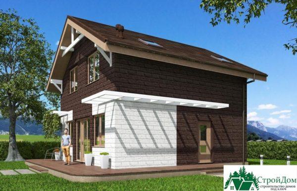 Проект дома с мансардой SD 512 вид 2
