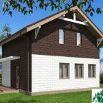 Проект дома с мансардой SD-512 вид 3