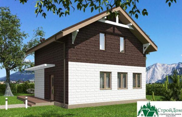 Проект дома с мансардой SD 512 вид 3