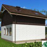 Проект дома с мансардой SD-512 вид 4