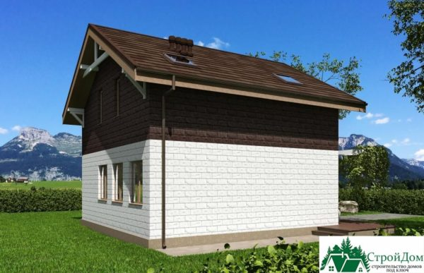 Проект дома с мансардой SD 512 вид 4