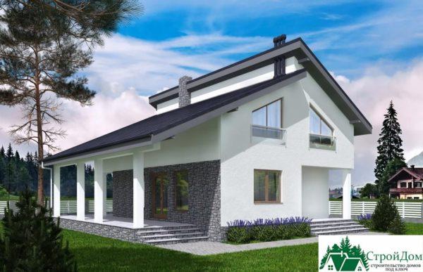 Проект дома с мансардой SD 539 вид 1 10