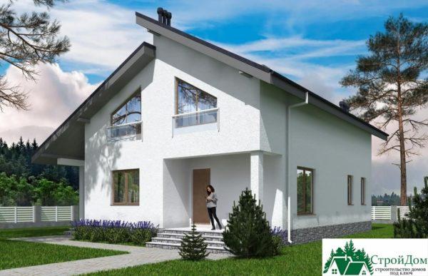 Проект дома с мансардой SD 539 вид 2 10