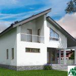 Проект дома с мансардой SD-539 вид 3 10
