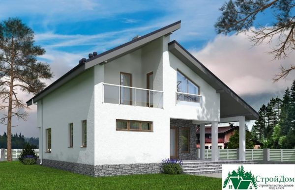 Проект дома с мансардой SD 539 вид 3 10