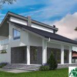 Проект дома с мансардой SD-539 вид 4 10