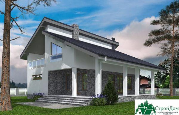 Проект дома с мансардой SD 539 вид 4 10