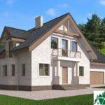 Проект дома с мансардой SD-585 вид 1 3