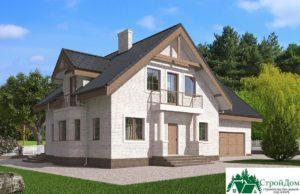 Проект дома с мансардой SD 585 вид 1 3