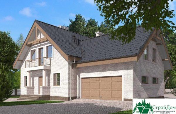 Проект дома с мансардой SD 585 вид 2 3