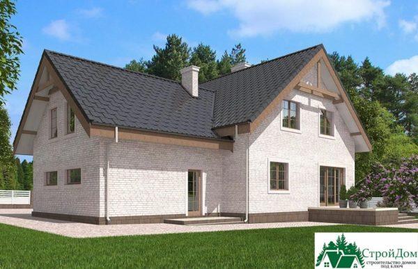 Проект дома с мансардой SD 585 вид 3 3
