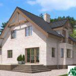 Проект дома с мансардой SD-585 вид 4 3