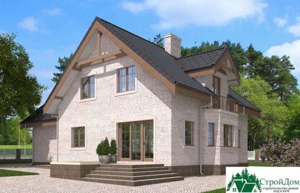 Проект дома с мансардой SD 585 вид 4 3