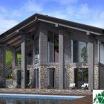Проект дома с мансардой SD-589 вид 1 12