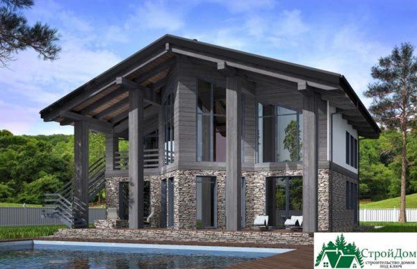 Проект дома с мансардой SD 589 вид 1 12