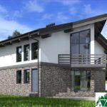 Проект дома с мансардой SD-589 вид 2 12