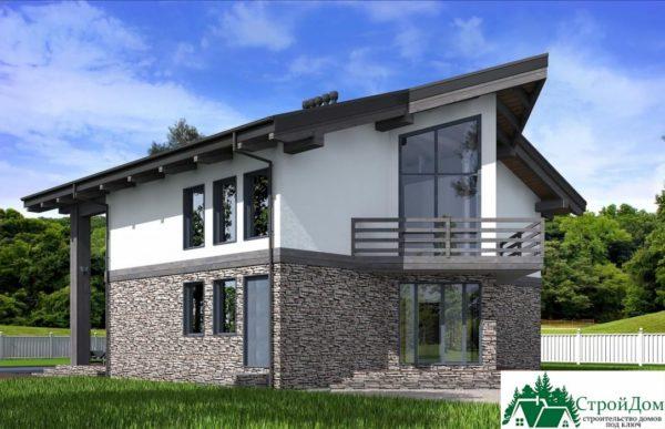 Проект дома с мансардой SD 589 вид 2 12