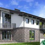 Проект дома с мансардой SD-589 вид 3 12