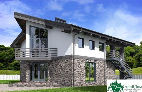 Проект дома с мансардой SD 589 вид 3 12