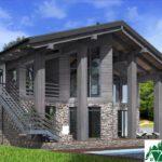 Проект дома с мансардой SD-589 вид 4 12