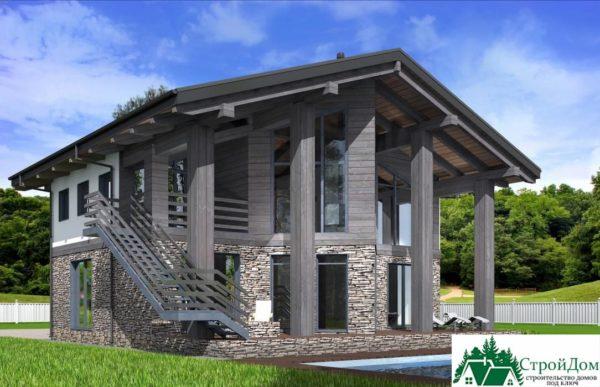 Проект дома с мансардой SD 589 вид 4 12