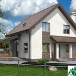 Проект дома с мансардой SD-592 вид 1 4
