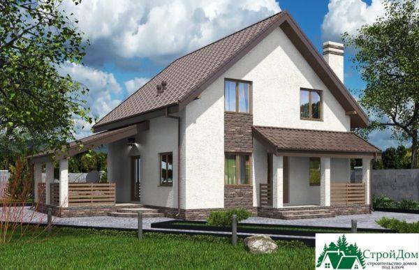 Проект дома с мансардой SD 592 вид 1 4