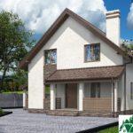 Проект дома с мансардой SD-592 вид 2 4