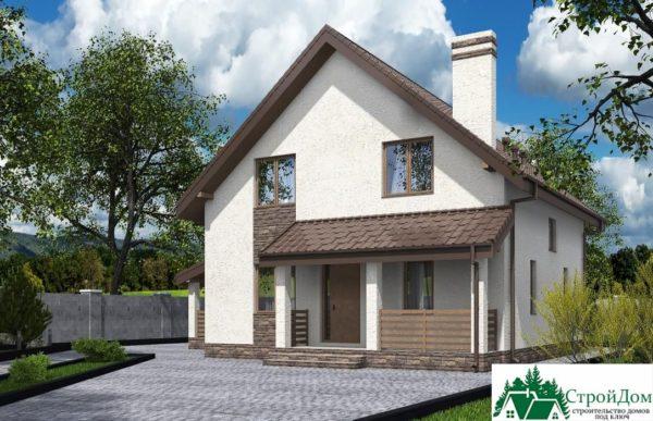 Проект дома с мансардой SD 592 вид 2 4