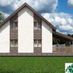 Проект дома с мансардой SD-592 вид 3 4