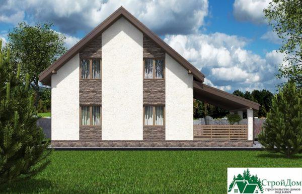 Проект дома с мансардой SD 592 вид 3 4