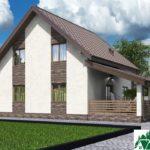 Проект дома с мансардой SD-592 вид 4 4