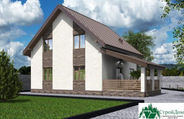 Проект дома с мансардой SD 592 вид 4 4