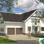 Проект дома с мансардой SD-609 вид 1 9