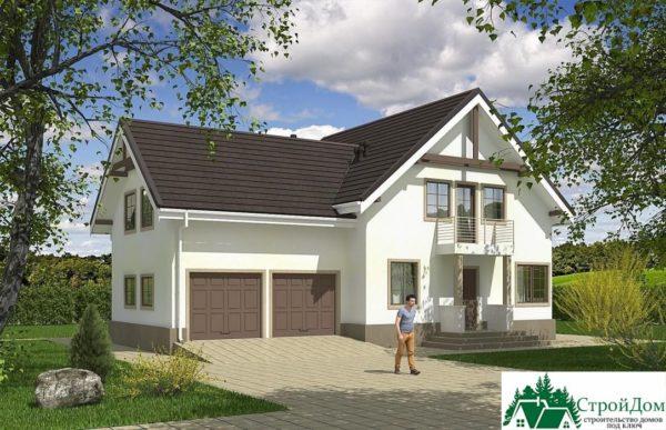 Проект дома с мансардой SD 609 вид 1 9