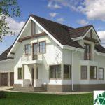 Проект дома с мансардой SD-609 вид 2 9