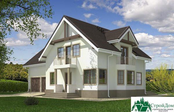 Проект дома с мансардой SD 609 вид 2 9