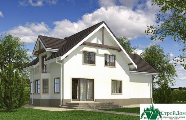 Проект дома с мансардой SD 609 вид 3 9