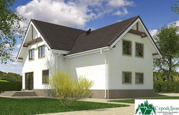 Проект дома с мансардой SD 609 вид 4 9