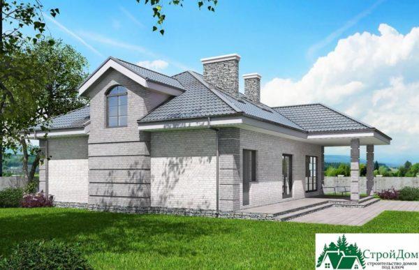 Проект дома с мансардой SD 913 вид 3 16