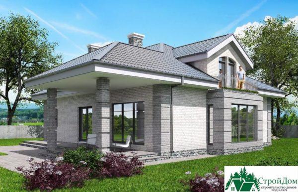 Проект дома с мансардой SD 913 вид 4 16