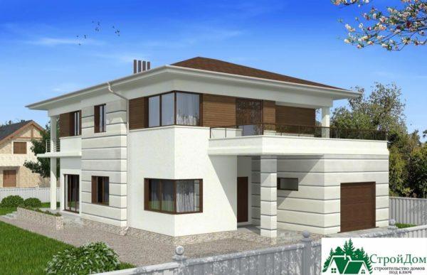 проект двухъэтажного дома 107 вид 1 4