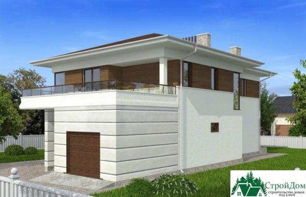 проект двухъэтажного дома 107 вид 2 4