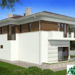 проект двухъэтажного дома 107 вид 3 4
