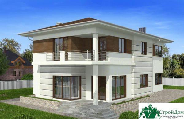 проект двухъэтажного дома 107 вид 4 4