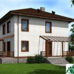 проект двухъэтажного дома 108 вид 1 5